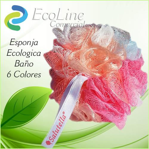 Productos Aseo Personal y Baño Esponja Ecológica Salutella 6 Colores