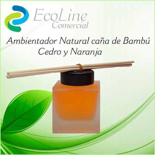 Pruductos Ambientadores Caña de Bambú Cedro y Naranja