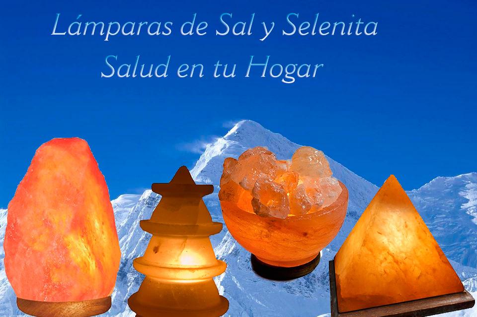 Lámparas de Sal y Selenita